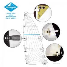 Grand-voile lattée coupe orientée Warp Drive;