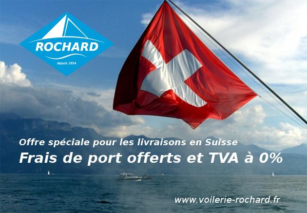 Livraison de voiles offertes pour la suisse