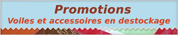 Promotions voiles en destockage